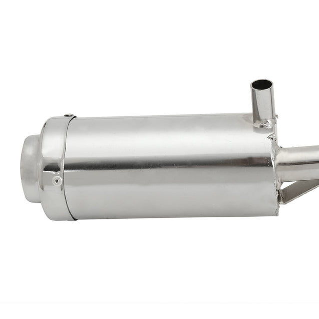 Chrome Exhaust Pipe System Muffler 4 Stroke For CFR50 Pit Bike 50cc 110cc 125cc