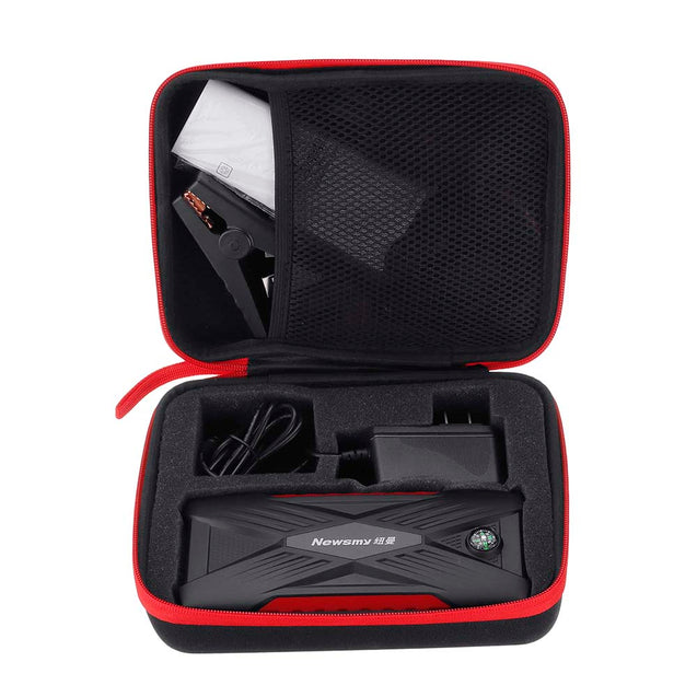 NEWSMY Q8 Plus Portable Car Jump Starter 12V 12000mAh Emergency Battery Booster with LED FlashLight LCD Screen