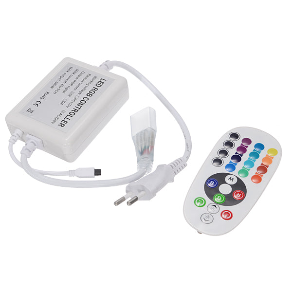 Wireless AC220V RGB 24 Key IR Remote Controller For SMD5050 LED Strips