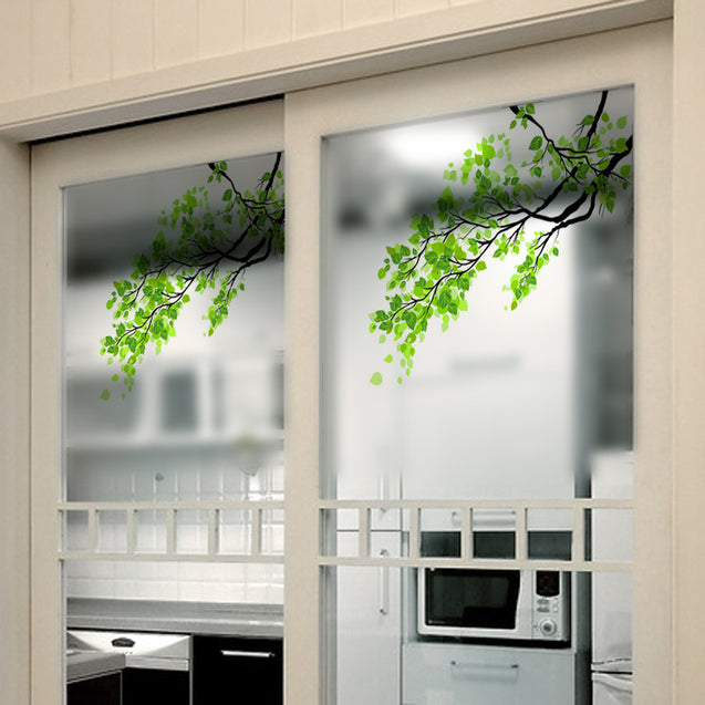 60x58cm Frosted Opaque Glass Window Film Tree Privacy Glass Stickers Home Decor
