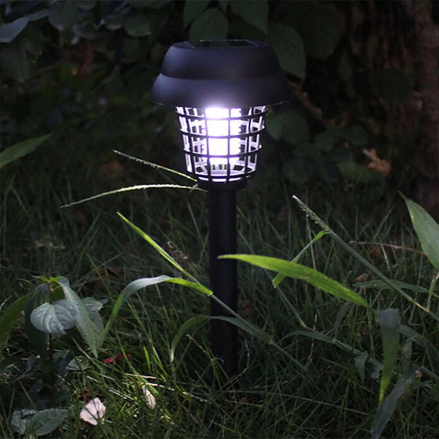 Solar Powered Outdoor Mosquito Fly Bug Insect Zapper Killer Trap Lamp Garden