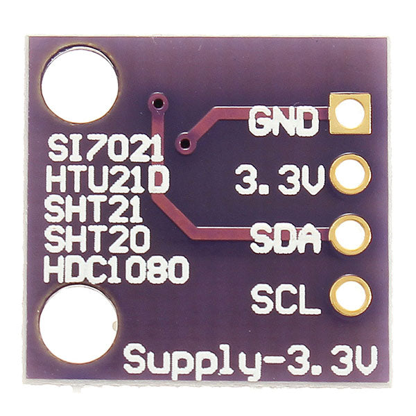 5Pcs GY-213V-SI7021 Si7021 3.3V High Precision Humidity Sensor with I2C Interface For Arduino