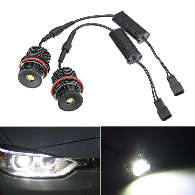 2pcs 80W Angel Eyes Error Free LED Halo Ring Lights Bulbs for BMW E39 E53 E63