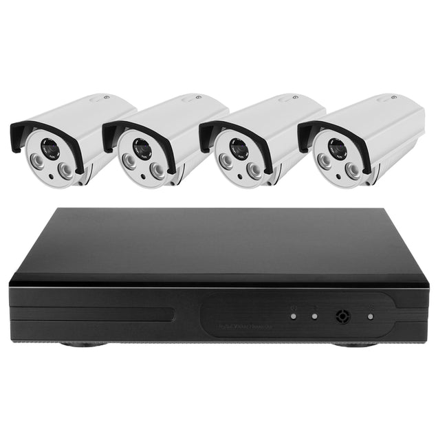 4CH Wireless 960P WiFi CCTV Kit Security Camera Video Recorder NVR System