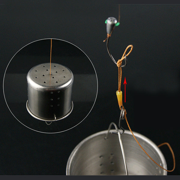5PCS 55*64mm Thickening Stainless Steel Fishing Lure Feeder Holder Outdoor Fishing Tool Bait Basket