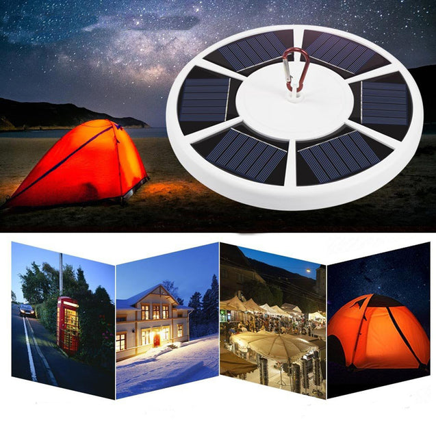 42 LED Solar Powered Tent Lights Emergency Lamp Waterproof Flashlight Hook Night Light For Camping