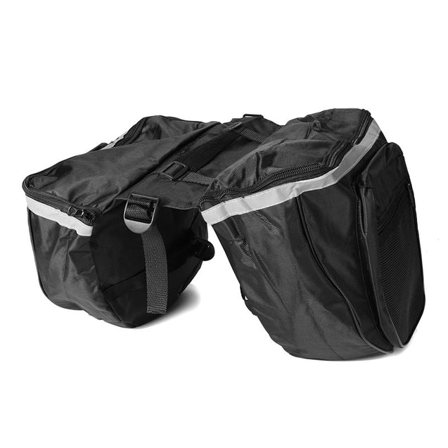 BIKIGHT 25L Cycling Bicycle Rack Rear Double Pannier Bag Luggage Storage Waterproof Bike Bag