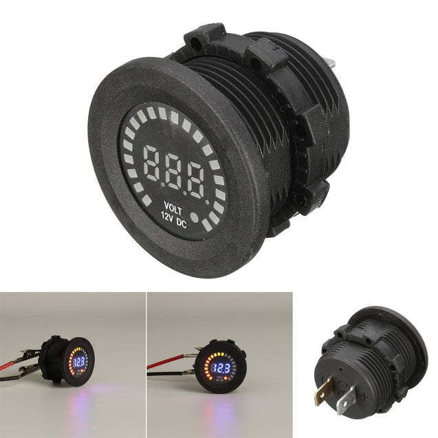 12V LED Digital Voltage Socket Meter Display Auto Car Motorcycle Panel Volt Meterr