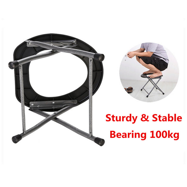 IPRee Portable Folding Toilet Stool Old Pregnant Women Sit Chair Travel Camping