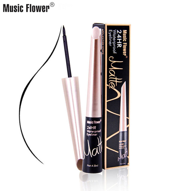 Music Flower Makeup Eyeliner Liquid Long Lasting Waterproof Black Eye Liner