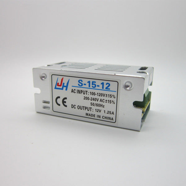 AC100-240V to DC12V 1.25A 15W Mini LED Switching Power Supply Lighting Transformer Adapter Driver