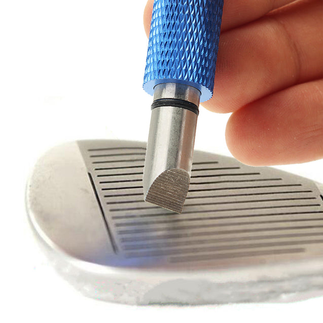 Golf Wedge Iron Groove Sharpener Club Cleaner Cleaning Regrooving Tool