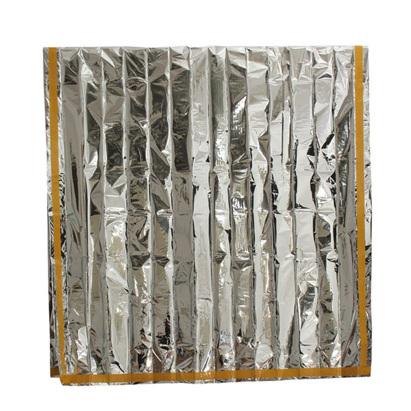 Emergency Aluminized Sunshade Blanket First Aid Insulation Sleeping Bag Outdoor Camping Survival 100 x 200cm