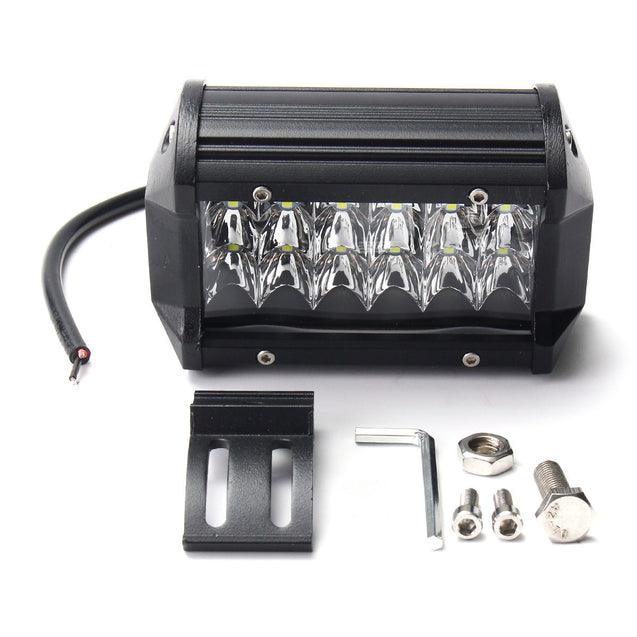 5 Inch 36W LED Work Light Bar Spot Beam IP67 10-30V Super White 2PCS for Jeep Off Road Truck Boat