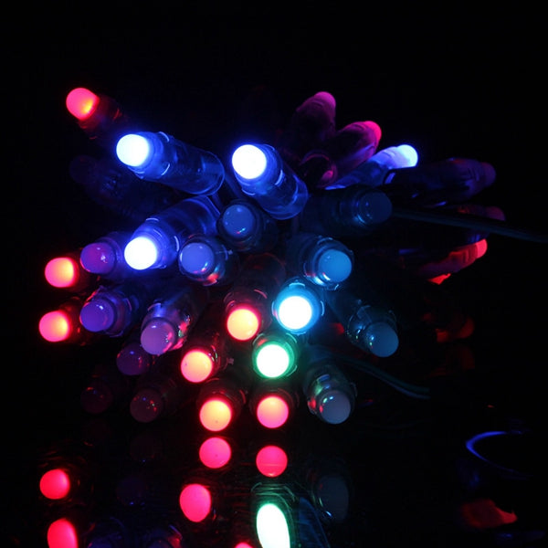 50pcs DC 5V WS2811 RGB Full Color 12mm Pixels Digital Addressable LED String Light IP68