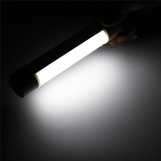 300LM Outdoor Camping Tent LED Magnetic Lamp USB 4400mAh Power Bank Tube Bar Light