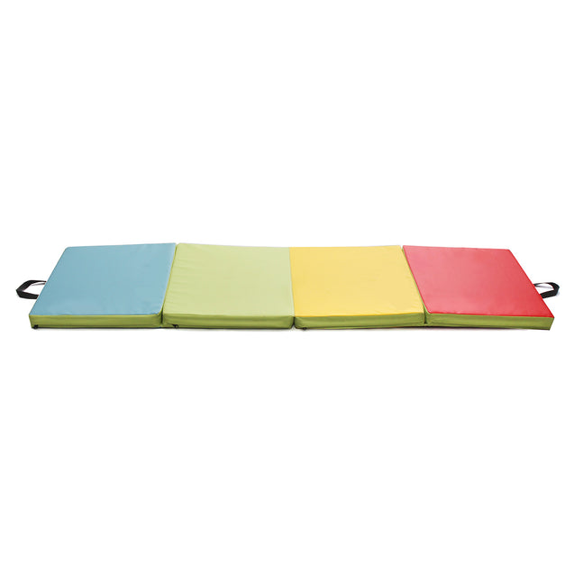 70.86x23.6x1.96inch 4 Folding Gymnastics Mat Yoga Exercise Gym Panel Climbing Tumbling Pad