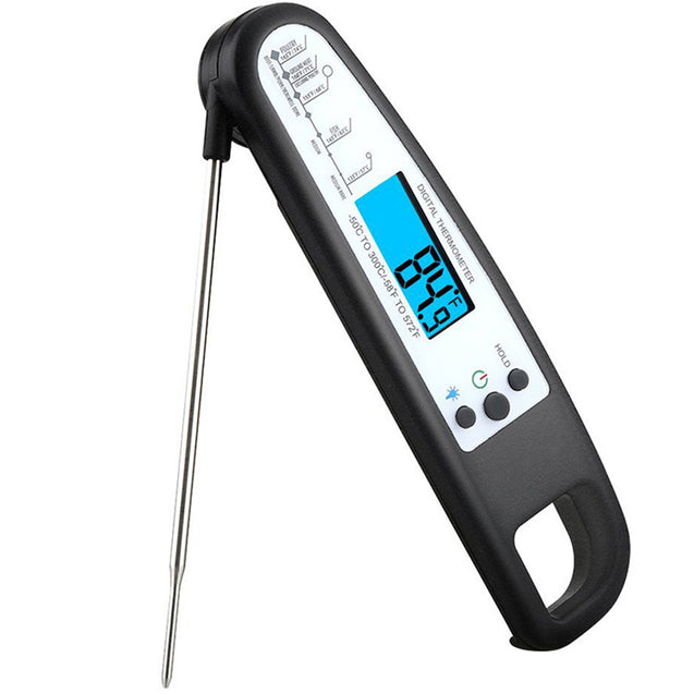 Instant Read Digital Food Meat Thermometer w/ Probe for Cooking BBQ Grill BBQ Thermometer-Red