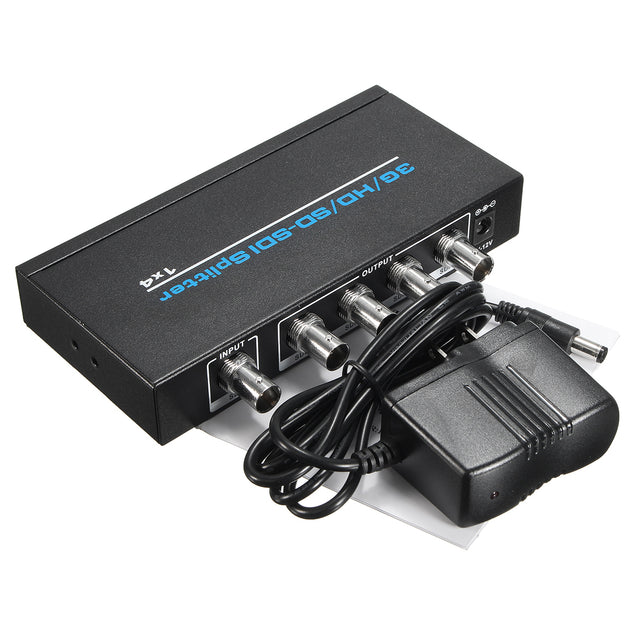 1x4 3G/HD/SD-SDI Video Splitter BNC 1 In 4 Out Distributor 1920*1080p for HDTV Switcher
