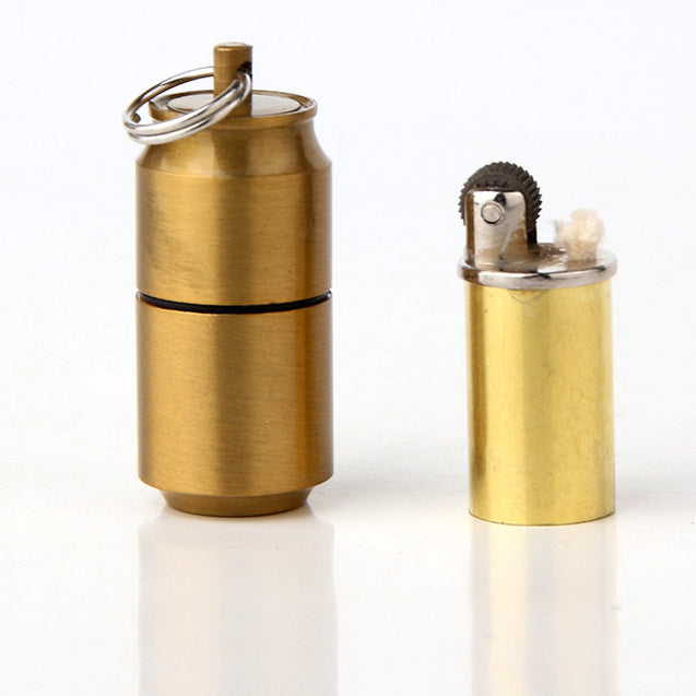 DOLPHIN HY653 Metal Portable Kerosene Lighter Keychain Outdoor EDC Mini Can Shape Oil Lighter