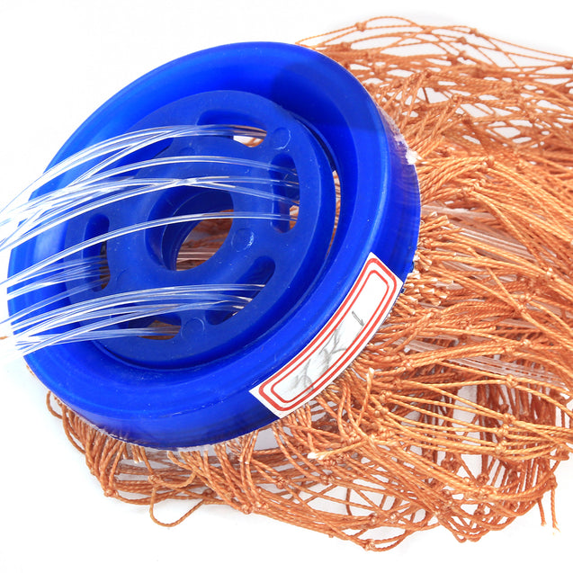 7.2m American Style Cast Net Saltwater Baitcasting Strong Nylon Fishing Line With Sinker