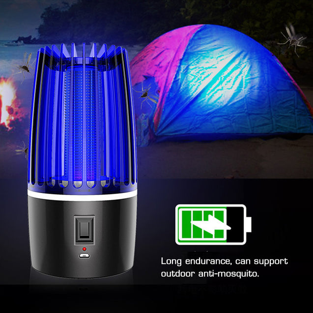 Rechargeable 5W LED Mosquito Zapper Killer Fly Insect Bug Trap Lamp Night Light DC5V
