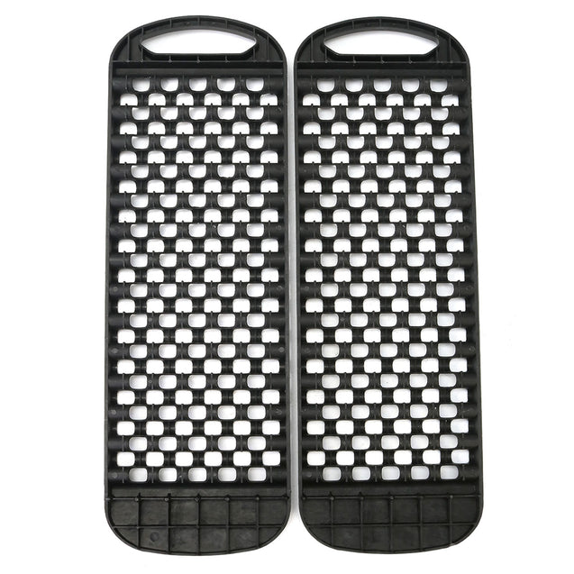 One Pair Black Sand Track Recovery Tracks Car Auto Grass Snow Road ATV Tyre Ladder
