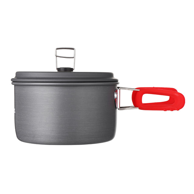 3-4 People Camping Cookware Set Portable Pot Pan Kettle Aluminum Picnic BBQ Cooking Tableware