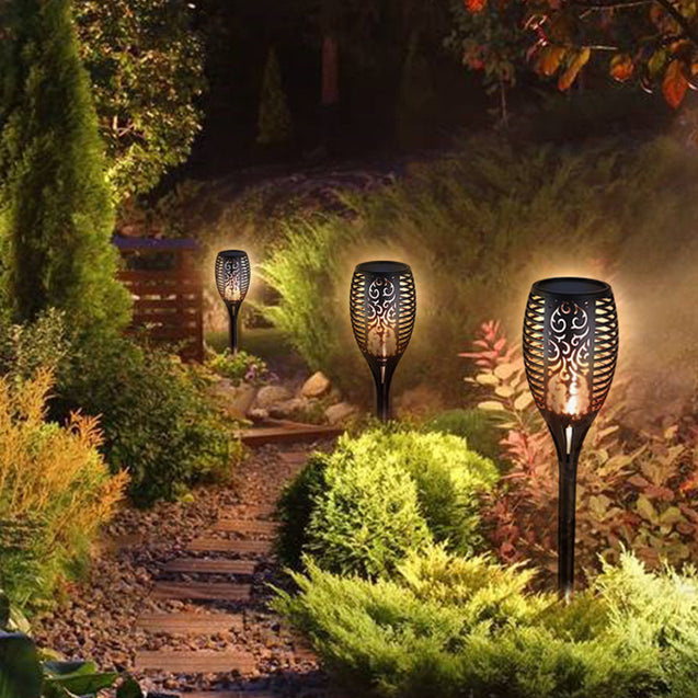 3W 51LED Solar Light Outdoor Waterproof Flickering Flame Path Garden Torch Lamp