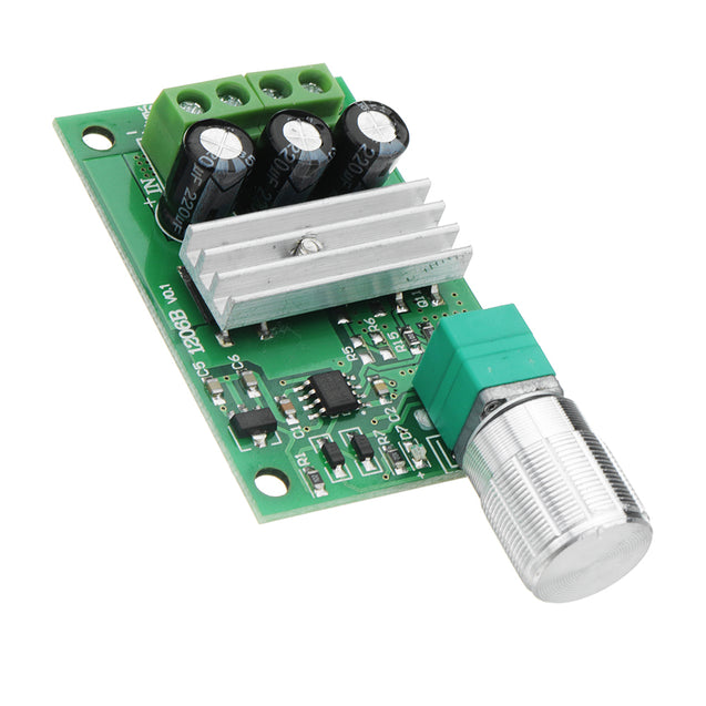 1206B 3A PWM DC Motor Speed Controller 6V/12V/24V Speed Regulating Switch Electronic Governor Dimmer