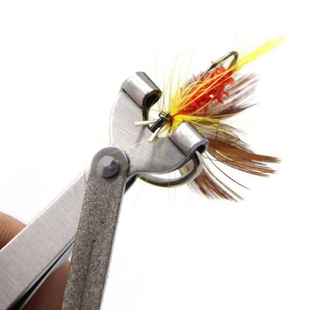 Fly Fishing Tool Pro Fast Hook Nail Knotter Lines Clipper Nipper Scissors Hook Sharpener