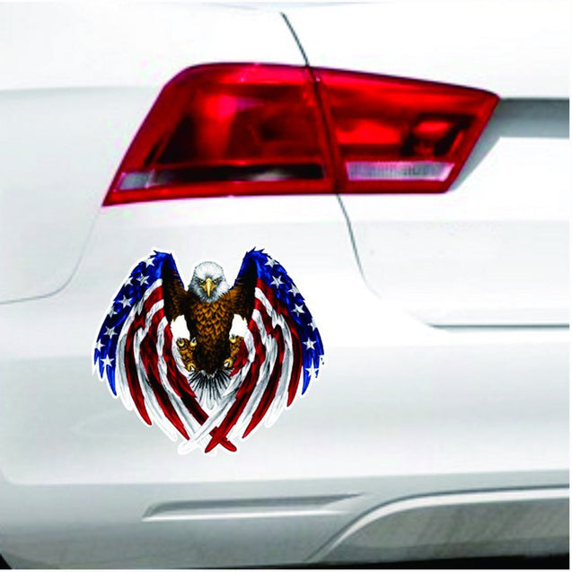 90x80mm Car Eagle USA United States Flag Vinyl Auto Window Bumper Sticker Decal