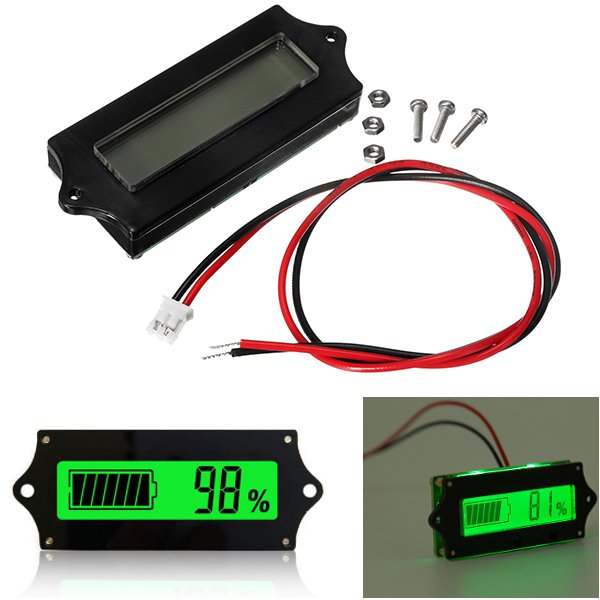 3pcs GY-6 12V 24V 36V 48V 6-65V LCD Lead Acid Lithium Battery Capacity Indicator Digital Voltmeter