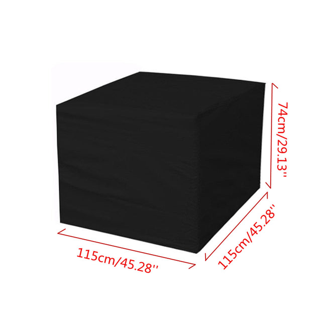 IPRee 115x115x74cm Outdoor Garden Yard Patio Waterproof Cube Table Furniture Cover Rain Protection