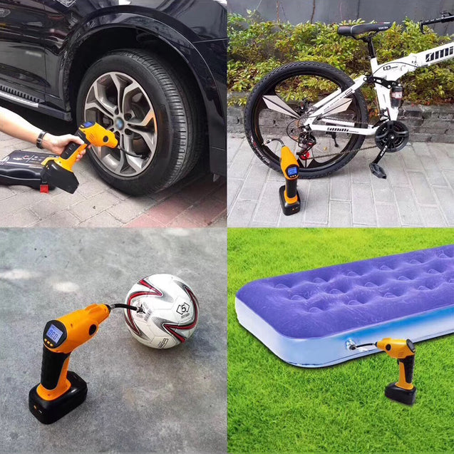 BIKIGHT 700KPA Portable Rechargeable Electric Car Bike Tire Inflator Digital Display Bike Pump