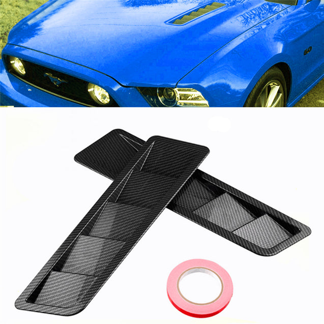 2Pcs ABS Car Side Vent Air Flow Fender Cover Trim Intake Cooling Panel Stickers for Ford Mustang