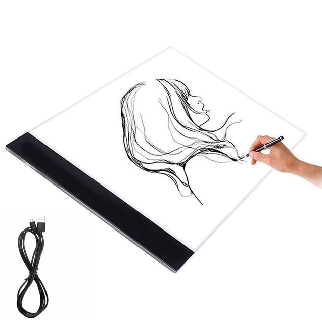 Ultra-Thin USB A4 LED Light Copyboard Light Box Tracing Drawing Board Pad