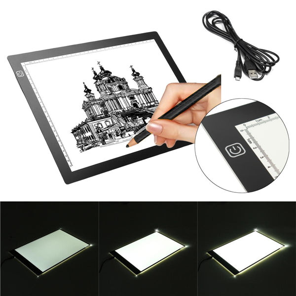 A3 LED Tracing Board Drawing Light Box Art Craft Paint Pad Tattoo Ultra Slim 19