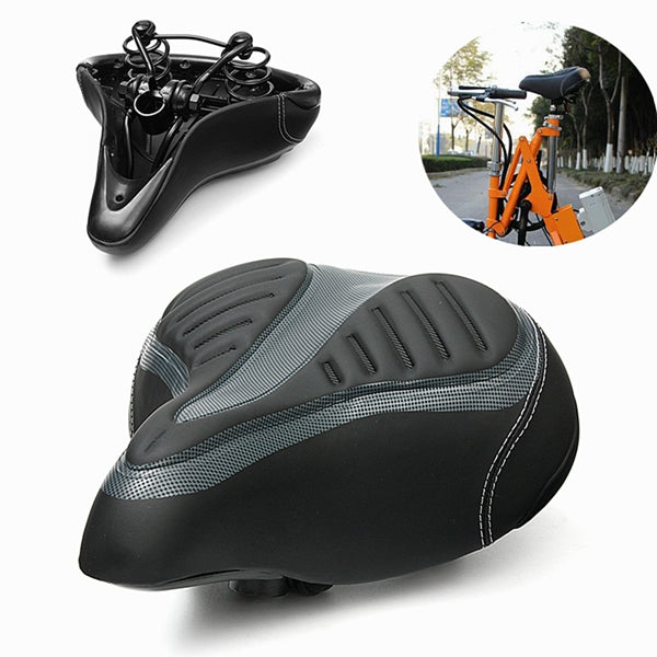 Wide Big Bum Bike Bicycle Cycling Gel Cruiser Extra Comfort Soft Pad Saddle Seat