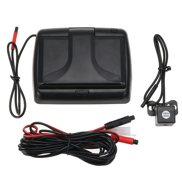 4.3 Inch Foldable LCD Rear View Display Monitor + Car Reverse Backup Parking Camera