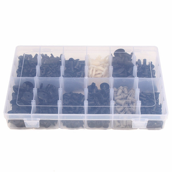 350pcs Plastic Car Repair Rivets Pin Fastener Screws Push Assortment Kit