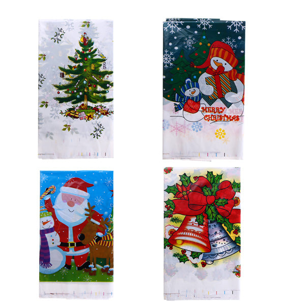 110 x 180CM Printed Pvc Disposable Tablecloth Merry Christmas Dinner Birthday Party Picnic Mat