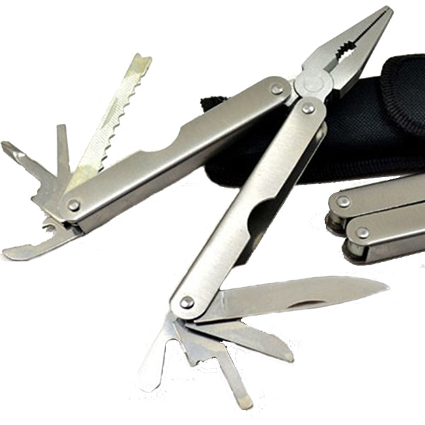 12 in1 Stainless Steel 157mm Fishing Pliers Multifunction Folding Knife Screwdriver Opener Tools