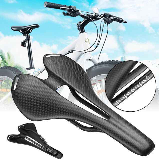 BIKIGHT Carbon Fiber Bike Bicycle Saddle Seat Hollow 3K Matte Ultralight Cycling Saddle Xiaomi