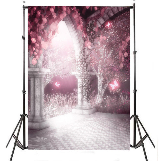 7x5ft Valentine's Day Pavilion Theme Photography Background Vinyl Fabric Studio Backdrop