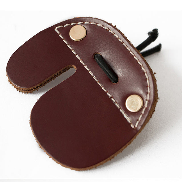 Cow Genuine Leather Archery Finger Guard Protector Glove Tab For Recurve Bow Hunting Shooting