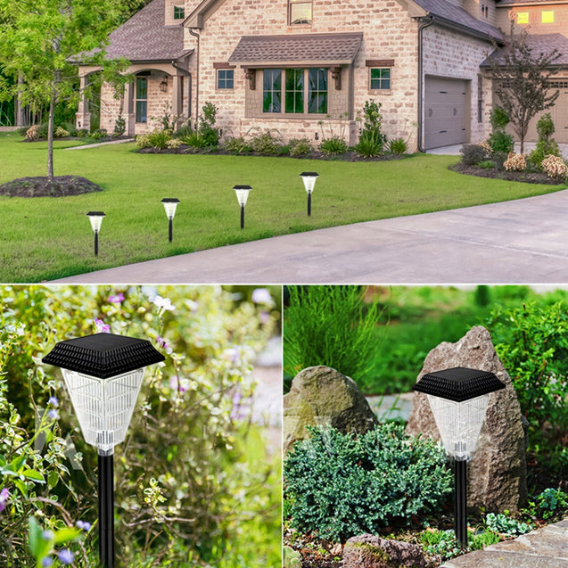 3W Solar Powered 12 LED Flame Lawn Light Outdoor Waterproof IP65 Garden Path Torch Lamp