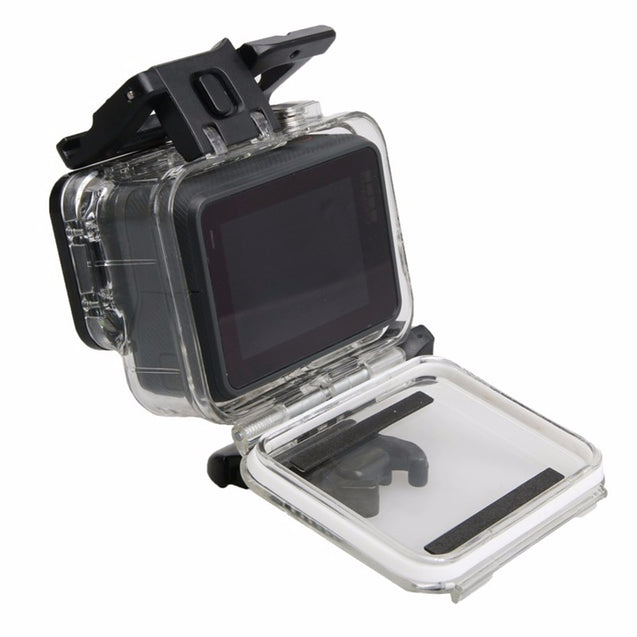 60M Waterproof Housing Case with Tough Screenn Back Door Cover For Gopro Hero 5 Black
