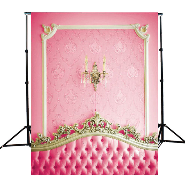 3x5ft Pink Bedside Photography Backdrop Studio Prop Background
