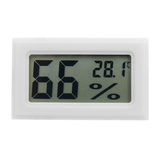3Pcs Mini LCD Digital Thermometer Hygrometer Fridge Freezer Temperature Humidity Meter White Egg Inc